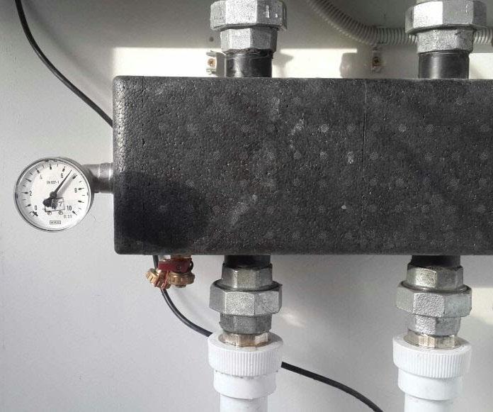 Манометр давления системы отопления - Отепление