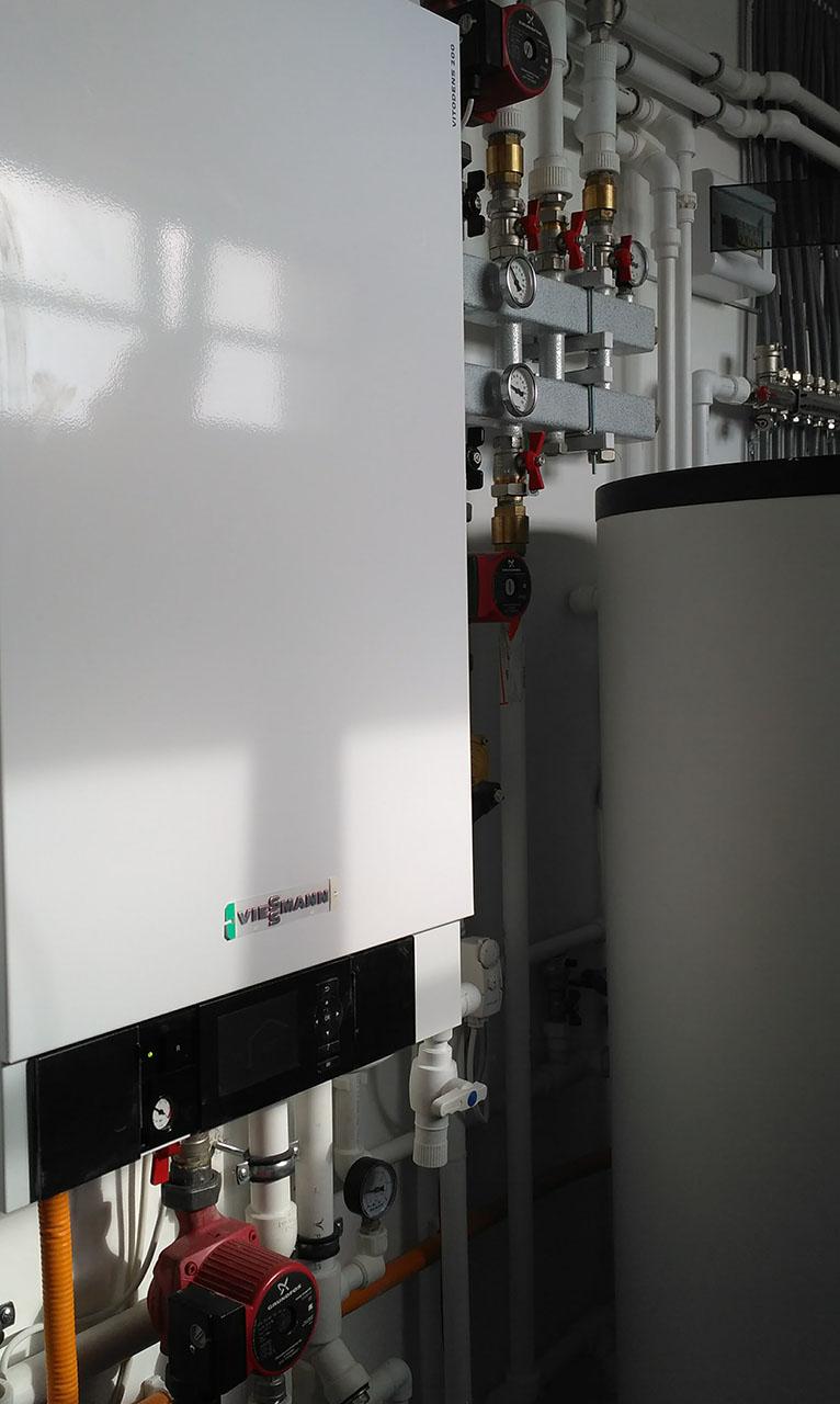 Монтаж конденсационного котла Viessmann Vitodens 200 - Отепление